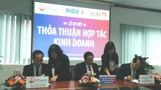 Liên danh EZ Việt Nam - VUD ký hợp đồng đối tác chiến lược với BIDV
