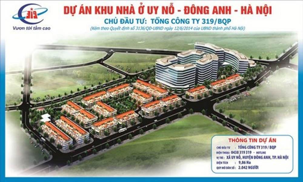 Dự án Khu nhà ở Uy Nỗ, huyện Đông Anh, TP Hà Nội
